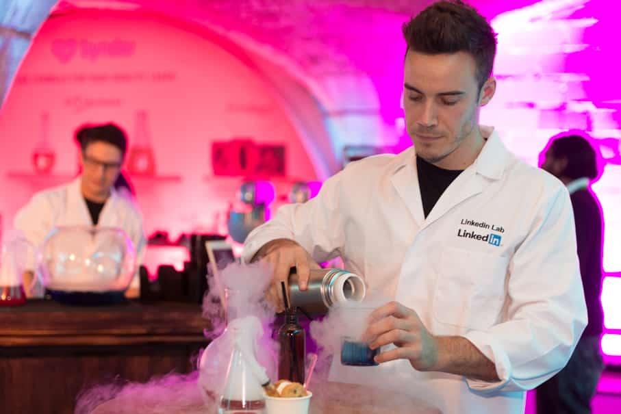 Science Lab Cocktail Bar Hire using Molecular cocktails