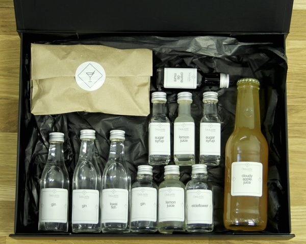 Cocktail 'Gin Lovers' Ingredient Box for virtual events and corporate gifting