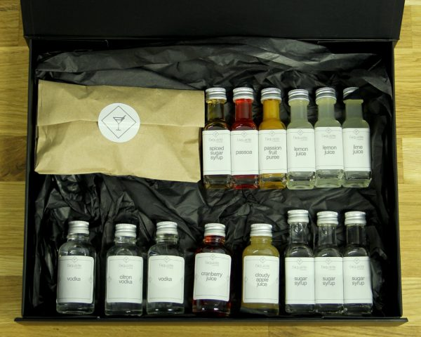 Cocktail 'Martini' Ingredient Box for virtual events and corporate gifting